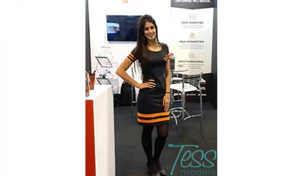 Tess Models | Viviane Neri | Digitalks | Feira | Eventos | modelo | modelos | stand | locaweb |